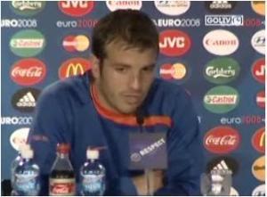 Van der Vaart Press conference Netherlands vs Russia